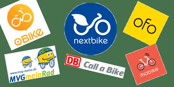 Bikesharing NextBike, Callabike, mobike, obike