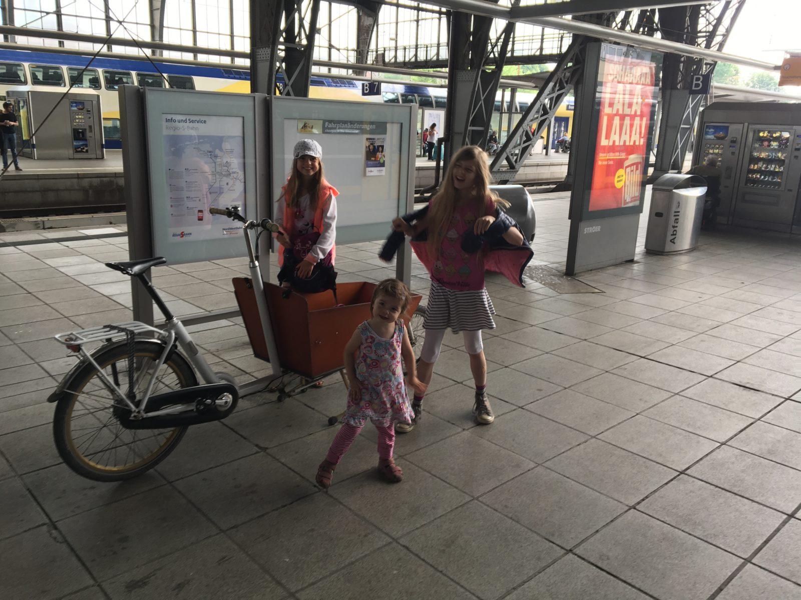 Warten auf den Erixx Zug