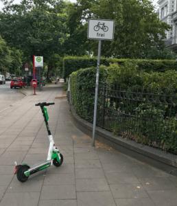 Sind Scooter hier frei