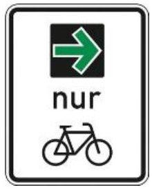 Grüner Pfeil für Fahrräder