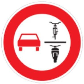 Überholverbot von Zweirädern