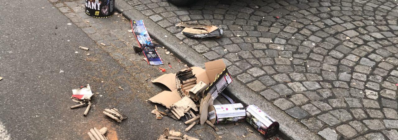Das Auto und der Müll